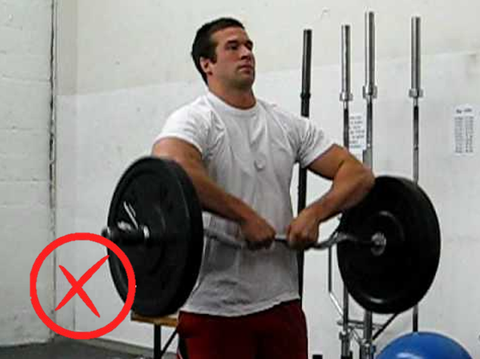 Don't use a close grip on upright rows