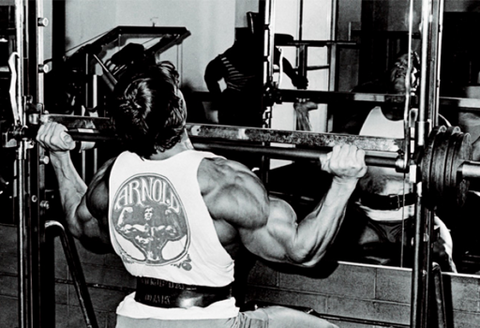 Arnold's shoulder training tricks Tri-sets and running the rack