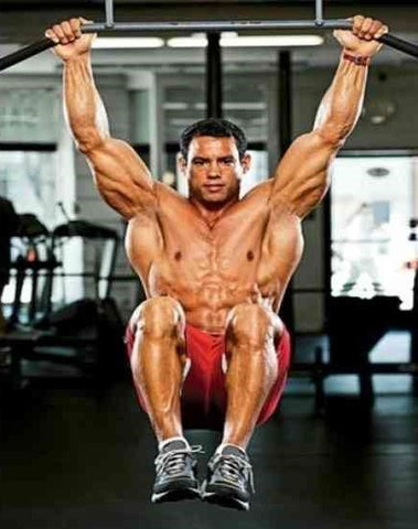 Hanging leg raises too hard? Try hanging knee raises