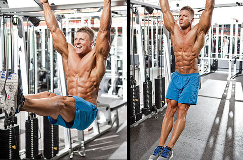 How to do the hanging leg raise in two steps