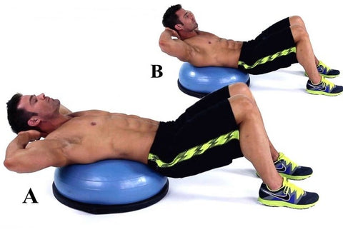 how to bosu ball crunch correctly