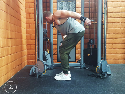 Get a wide back with the cable Lat Lever