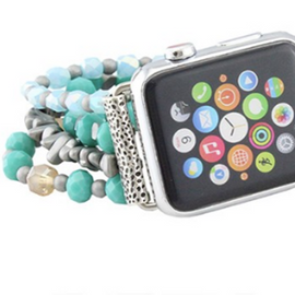 Beaded Apple Watch Band   Turquoise   42 and 38mm *Final Sale*