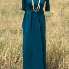 Short Sleeve Pocket Maxi | Teal