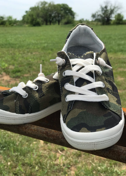 Camo Sneaks - Rolling Ranch Boutique