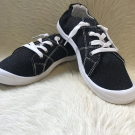SALE PRICED Summer Sneakers | Black *Final Sale*