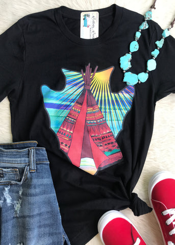 Teepee Arrowhead Tee | Small to 2X