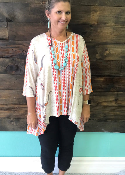 Steerhead and Aztec Tunic | Small to 3X
