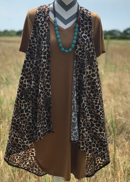 Go Wild Leopard Vest - Rolling Ranch Boutique