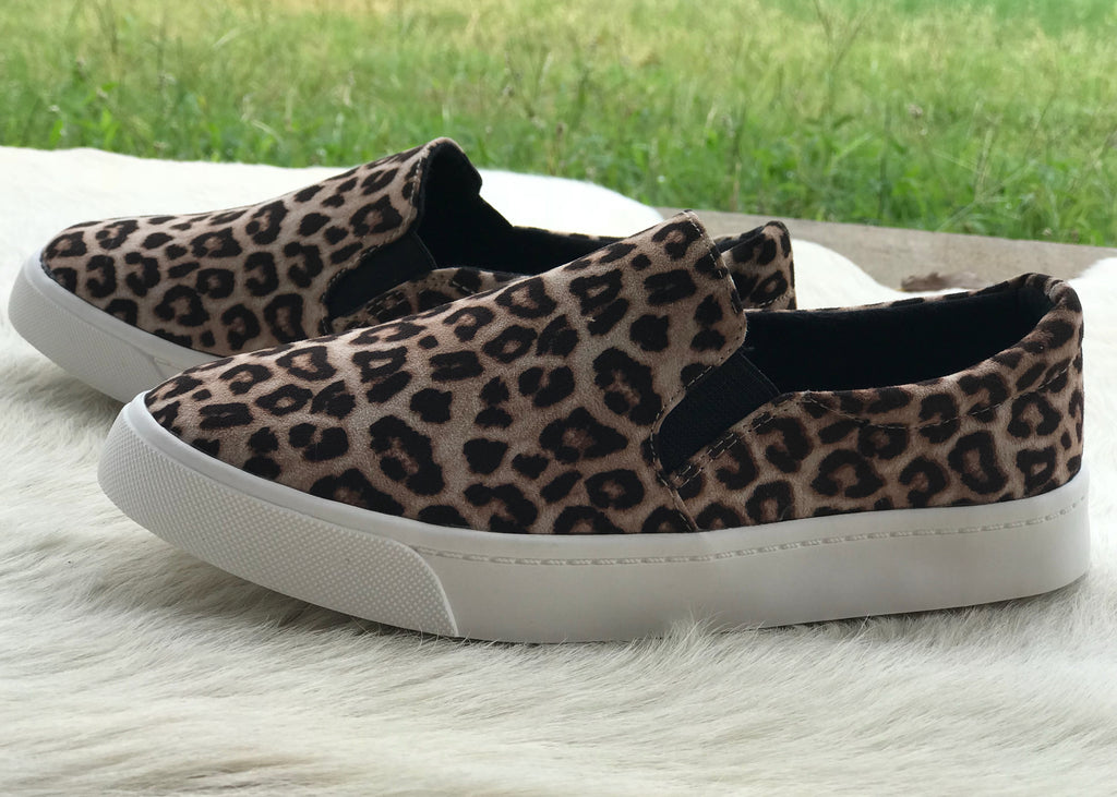 Leopard Slide on Sneakers - Rolling Ranch Boutique
