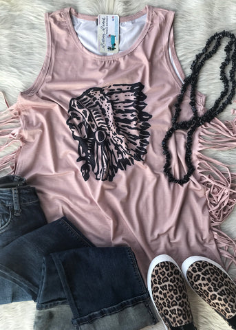 Head Dress Fringe Tank