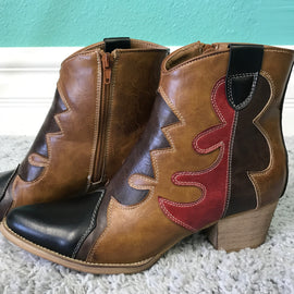 Retro Western Booties *Final Sale*