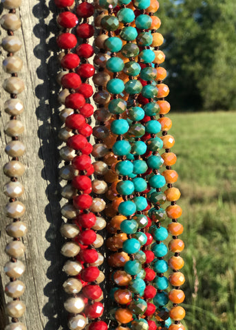 Long Beaded Necklace | Multiple Colors - Rolling Ranch Boutique