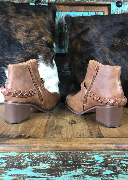 Double Zipper Booties - Rolling Ranch Boutique