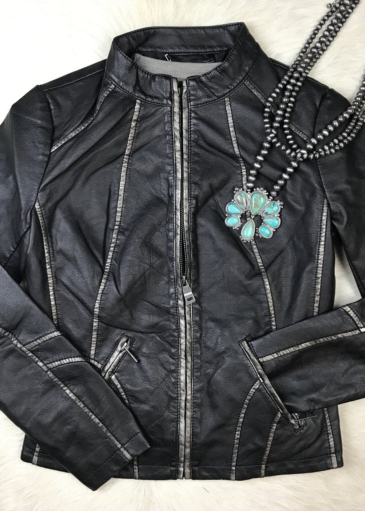 Cool Hand Black Jacket - Rolling Ranch Boutique