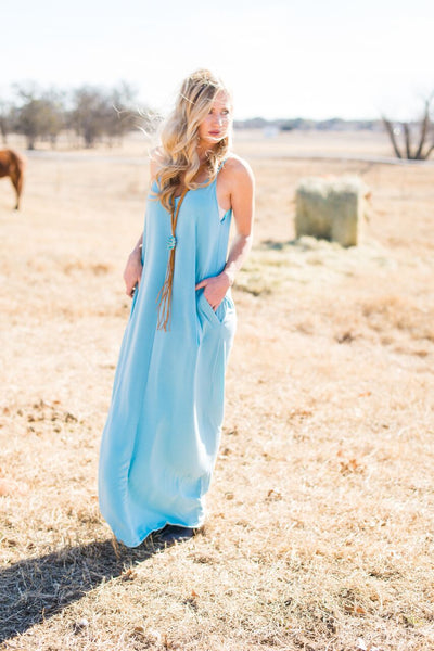 Pocket Maxi Dress - Rolling Ranch Boutique