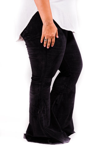 Corduroy Bell Bottoms | Black | Size 2-22 - Rolling Ranch Boutique