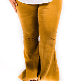 Corduroy Bell Bottoms | Mustard | Size 2-22 *Final Sale*