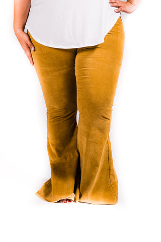 Corduroy Bell Bottoms | Mustard | Size 2-22 - Rolling Ranch Boutique