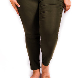 Super Stretch Skinnies | Cypress Green | Small to 3X *Final Sale*