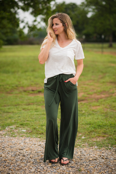 Headed to the Rodeo Lounge Pants | Army Green - Rolling Ranch Boutique