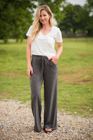Headed to the Rodeo Lounge Pants | Charcoal - Rolling Ranch Boutique