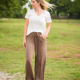 Headed to the Rodeo Lounge Pants   Mocha