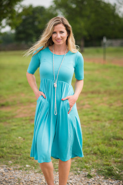 All the Days Pocket Dress | Ash Mint - Rolling Ranch Boutique