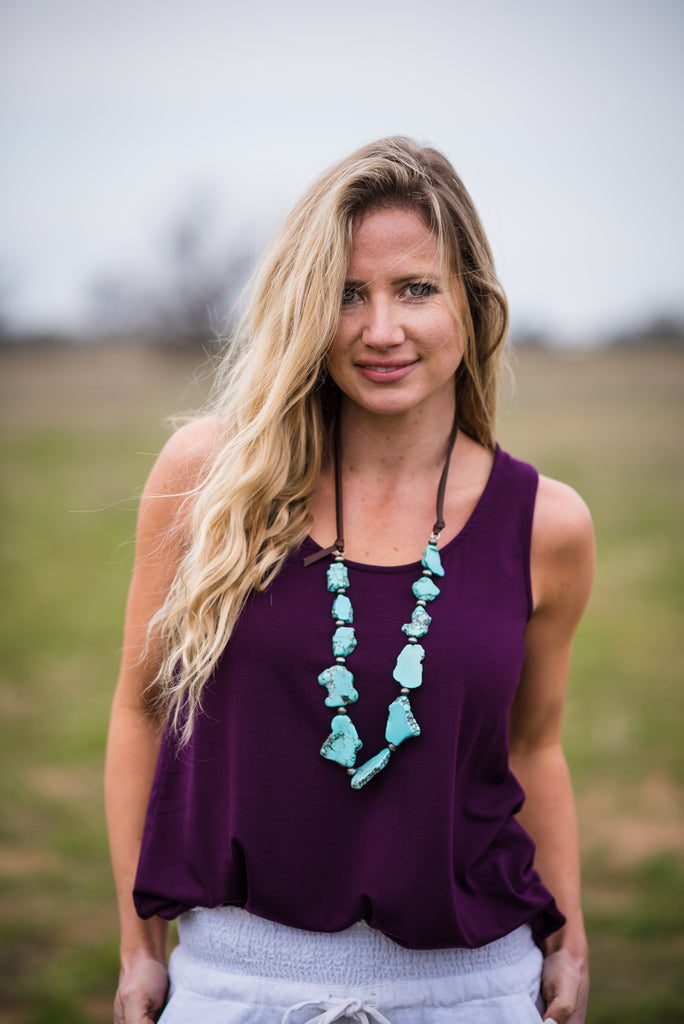 Daily Tank | Dark Plum - Rolling Ranch Boutique