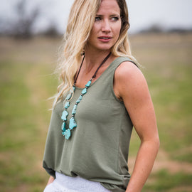 SALE PRICED | Daily Tank | Light Olive