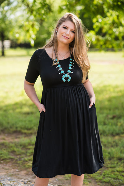 All the Days Pocket Dress | Black - Rolling Ranch Boutique