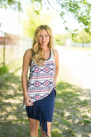 Santa Fe Aztec Tank - Rolling Ranch Boutique