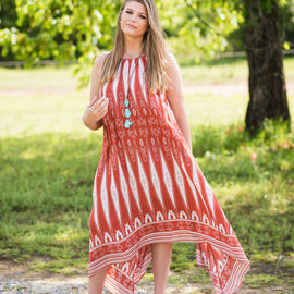 Aztec Printed Scarf Dress
