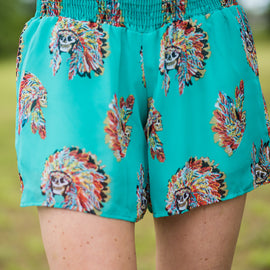 Chief Shorts | Turquoise *Final Sale*