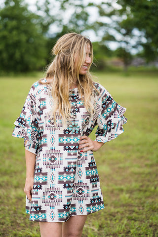 Neutrals Aztec Dress