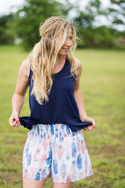 Feather Shorts - Rolling Ranch Boutique