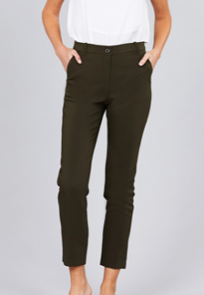 Classic Ankle Pants | Olive - Rolling Ranch Boutique