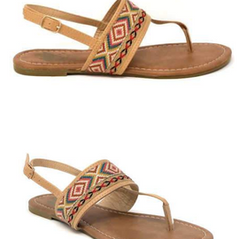 The Roam Aztec Sandal | Nude *Final Sale*