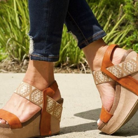 Aztec Strap Wedge *Final Sale*