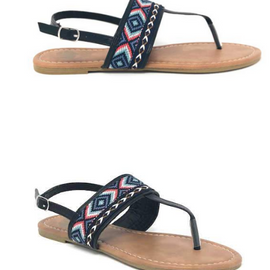 The Roam Aztec Sandal | Black *Final Sale*