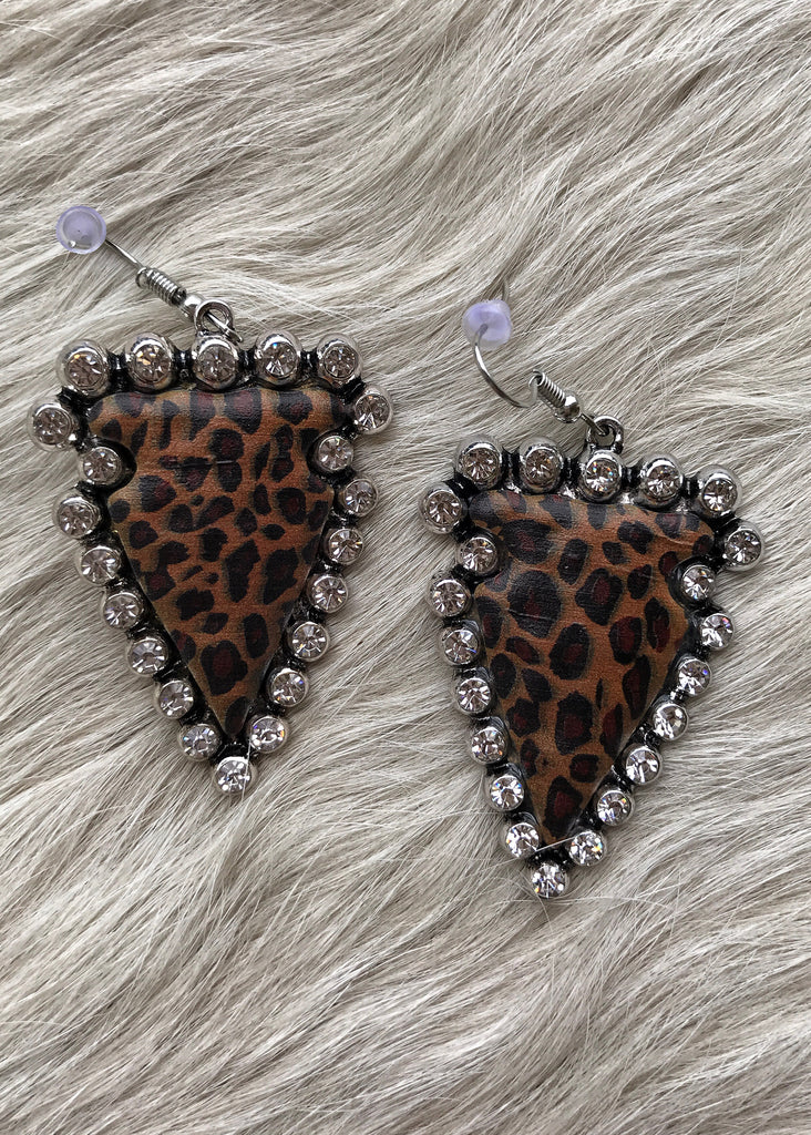 Arrowhead Earrings | Leopard - Rolling Ranch Boutique