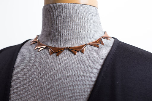 Vintage mid-century copper necklace