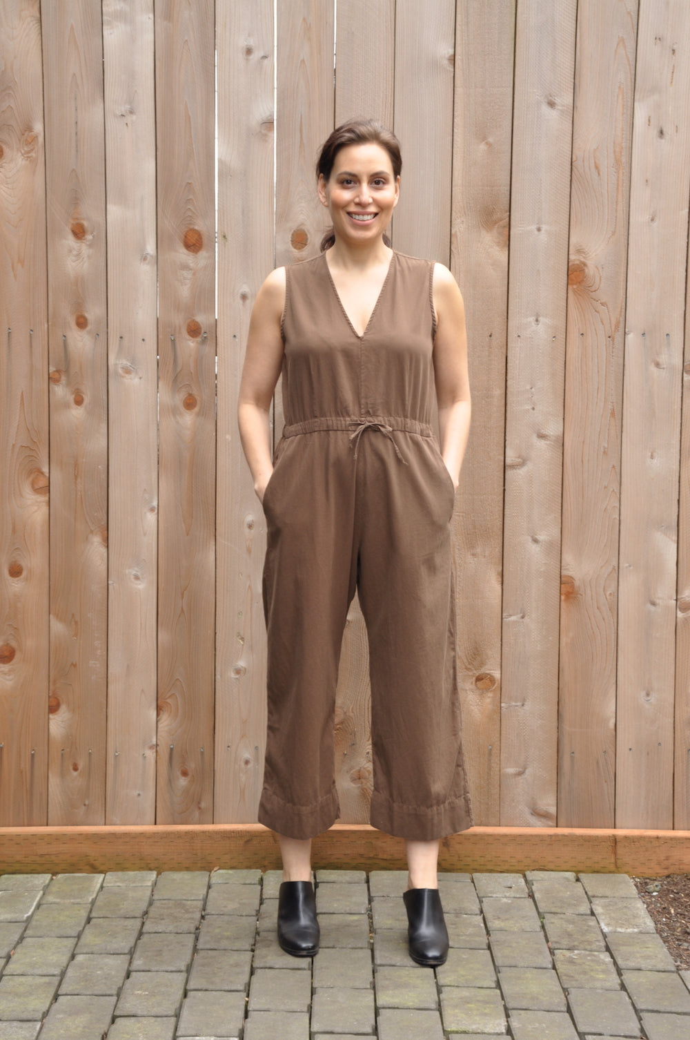Slit-back jumpsuit