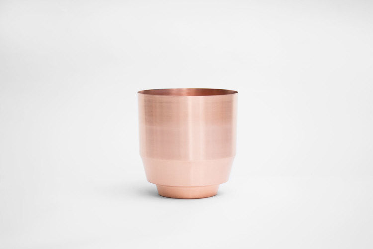 "8"" Spun copper planter"