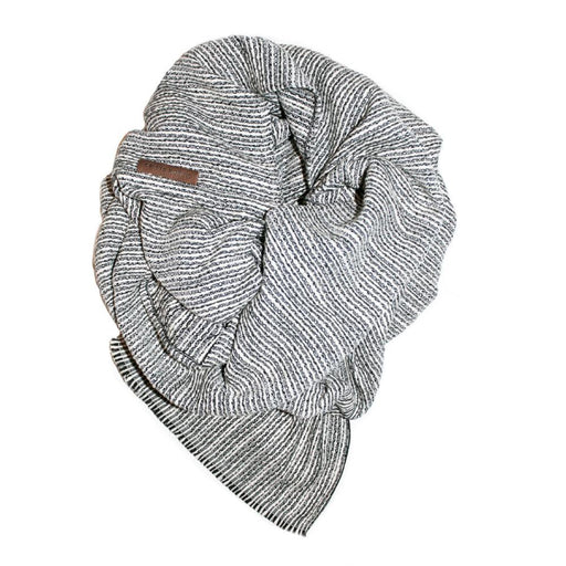 Wingtip striped infinity scarf