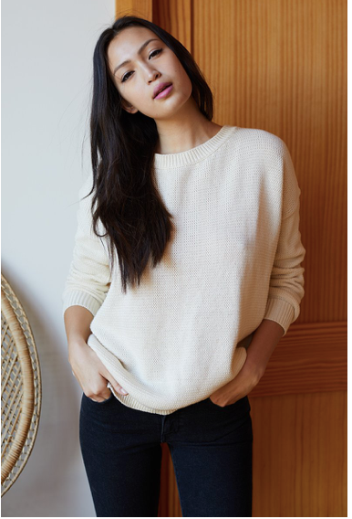 Organic cotton Carolyn sweater