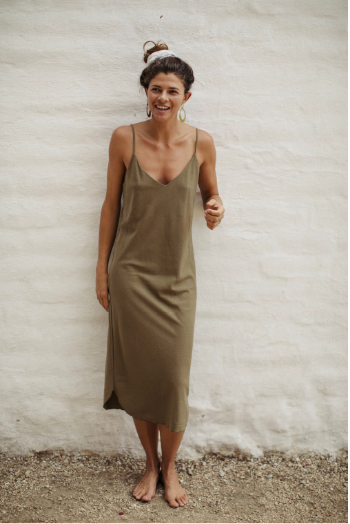 Slipdress in olive