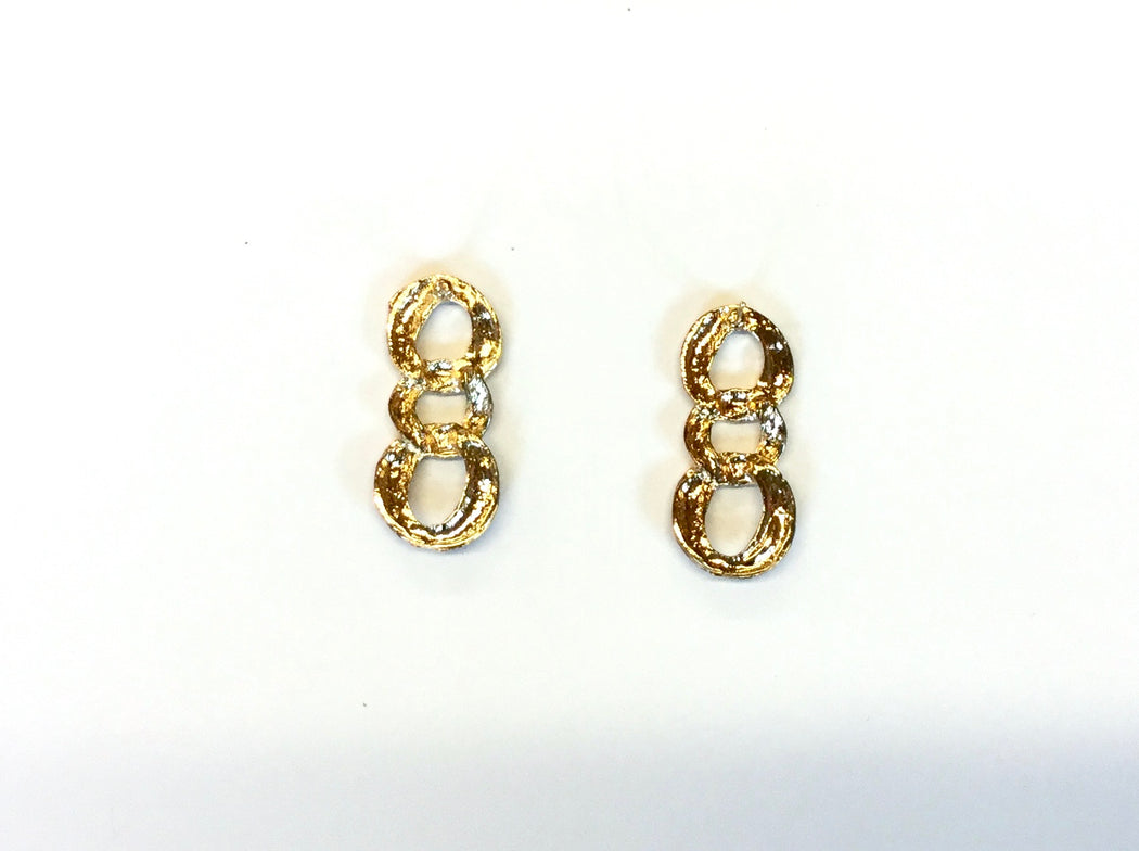 Vintage enamel link earrings