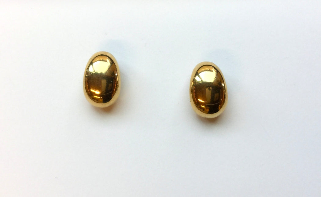 Vintage gold pebble earrings