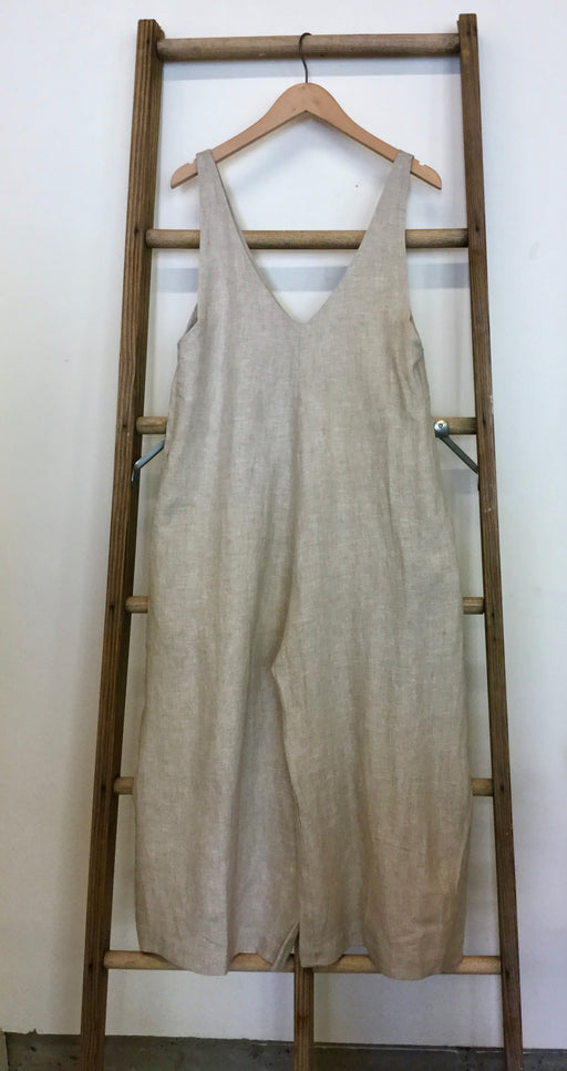 Vanessa romper in raw linen
